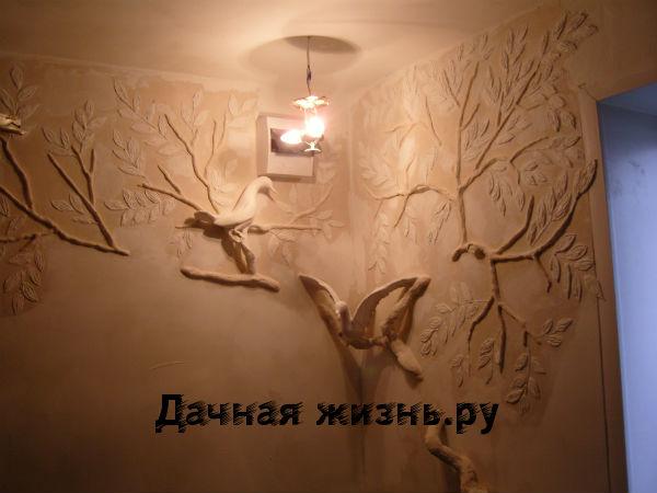 Барельеф на стене цветок своими руками 24