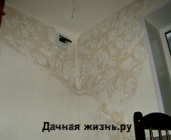 Барельеф на стене цветок своими руками 102