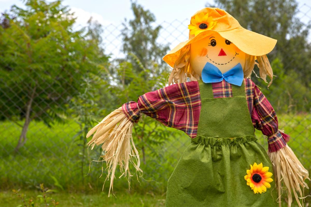 Из чего сделать огородное чучело своими руками