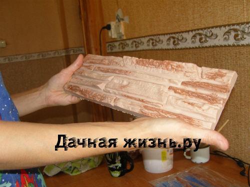 Плитка из гипса под камень своими руками