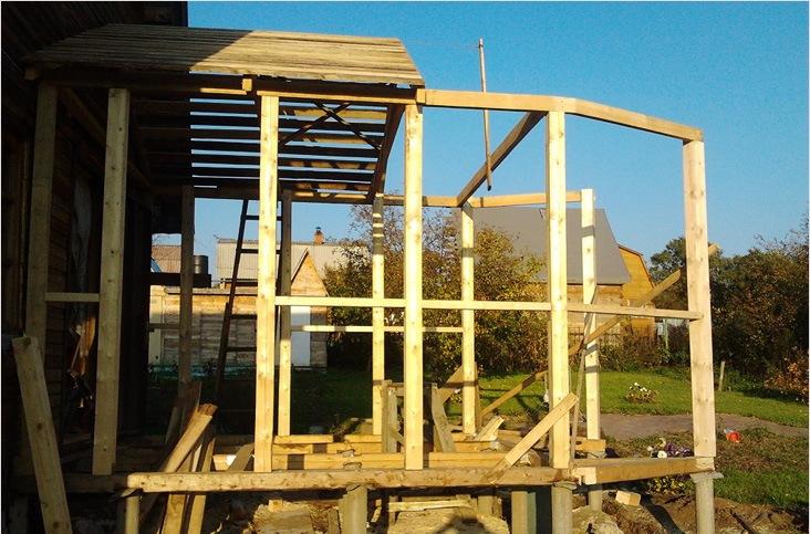 Как построить каркасную террасу к дому пошаговая инструкция