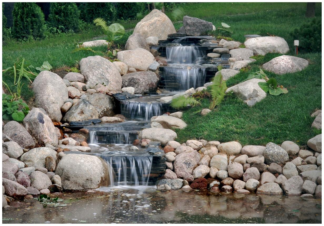 Ландшафтный дизайн водоема фото
