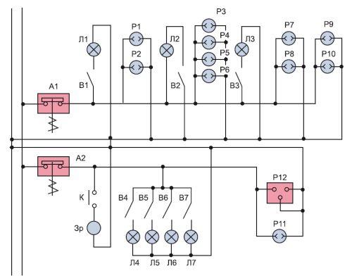 Пример принципиальной схемы