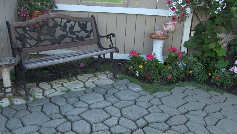 Плитка садовая своими руками