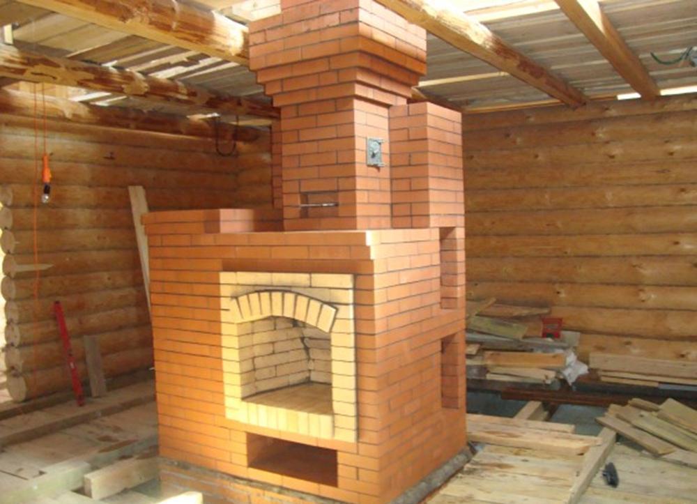 Как построить печь в доме видео и разместить колодцы 85