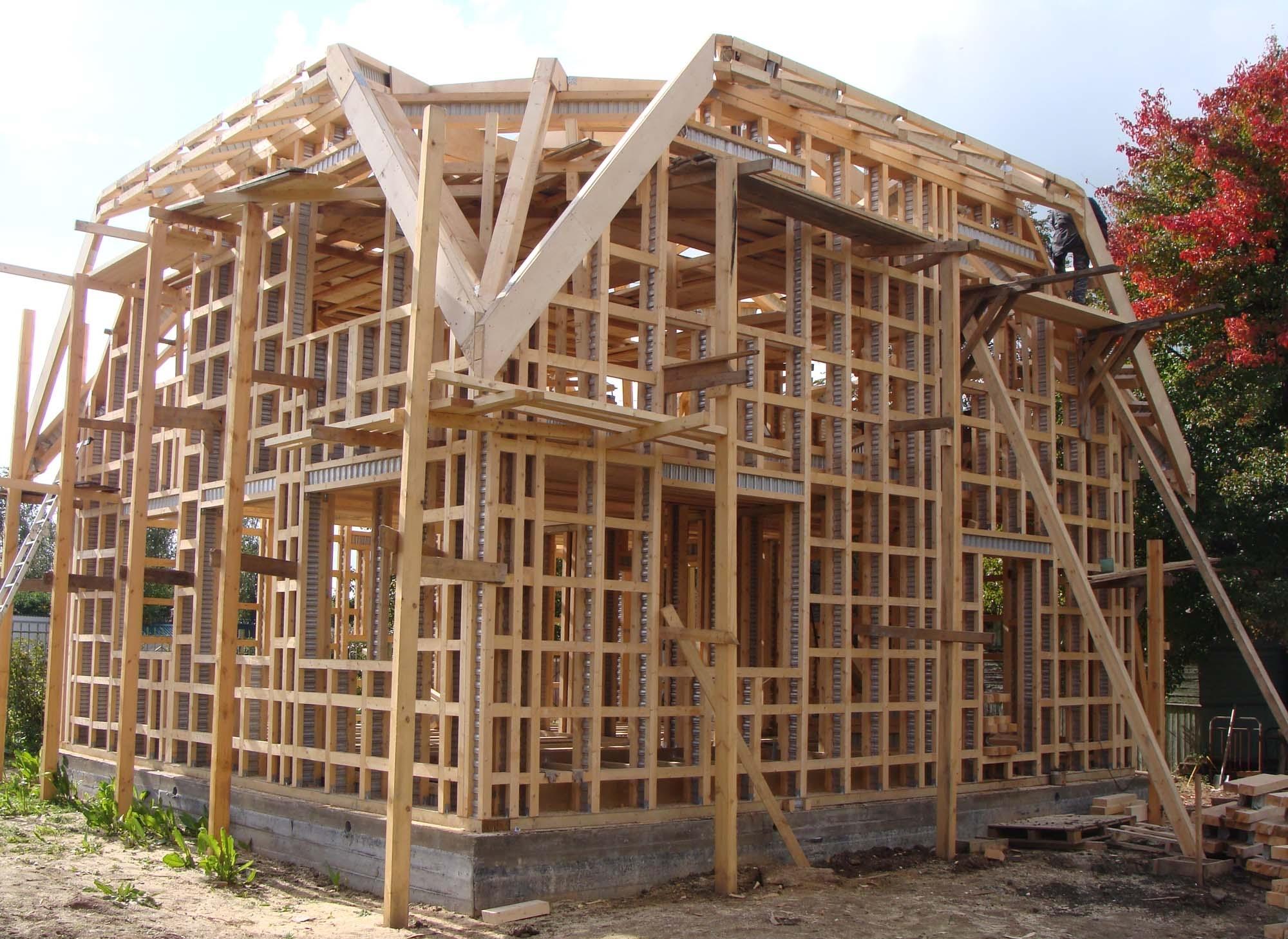 схема постройки каркасного дома своими руками
