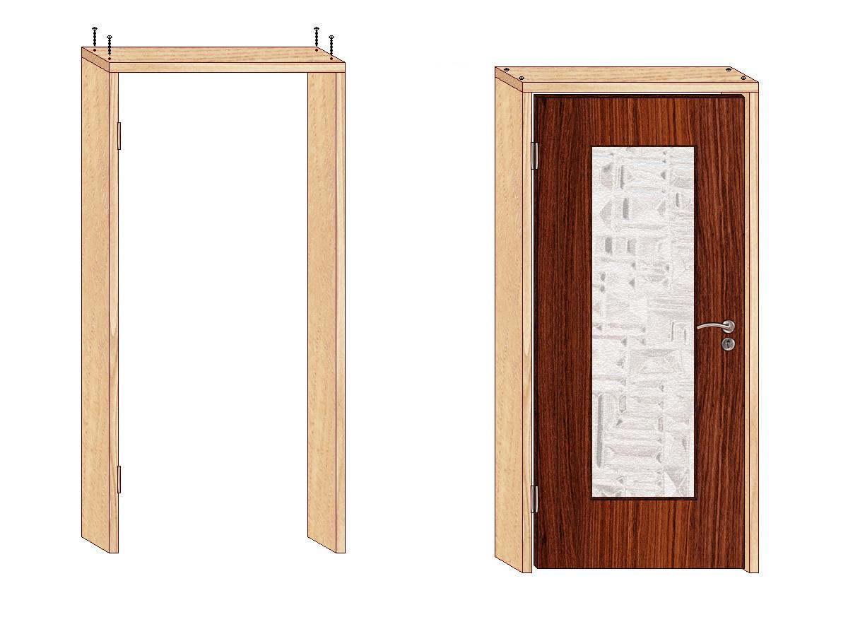 Как сделать коробку для двери своими руками фото