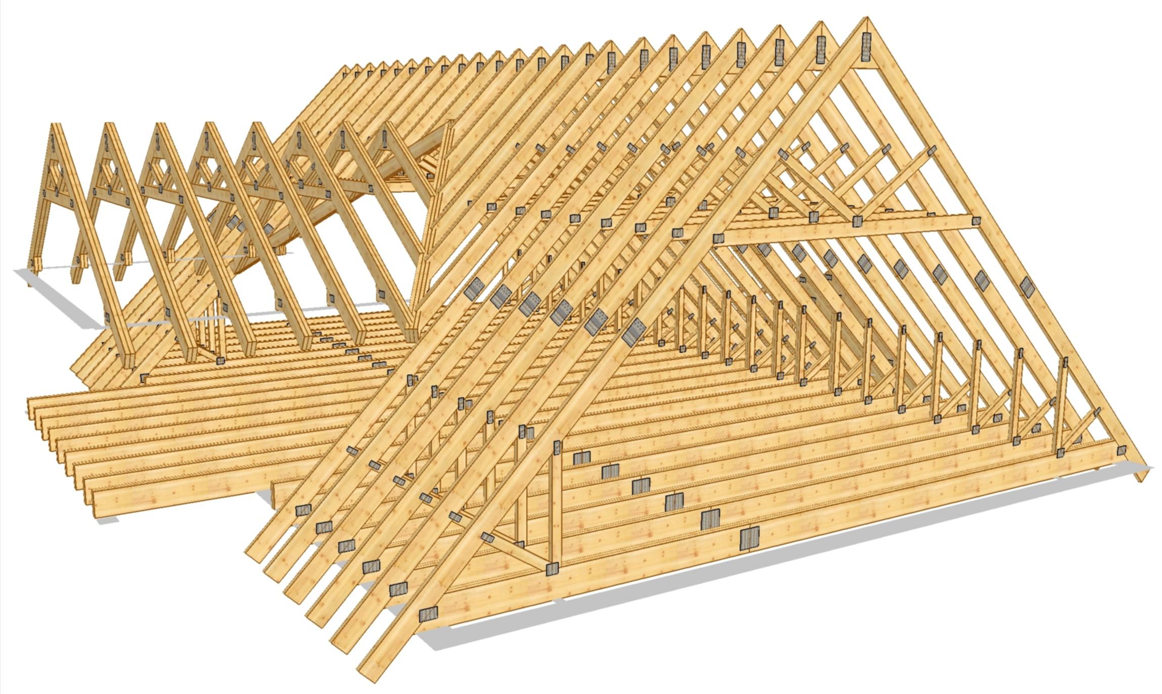 плоская крыша схема устройства частный дом