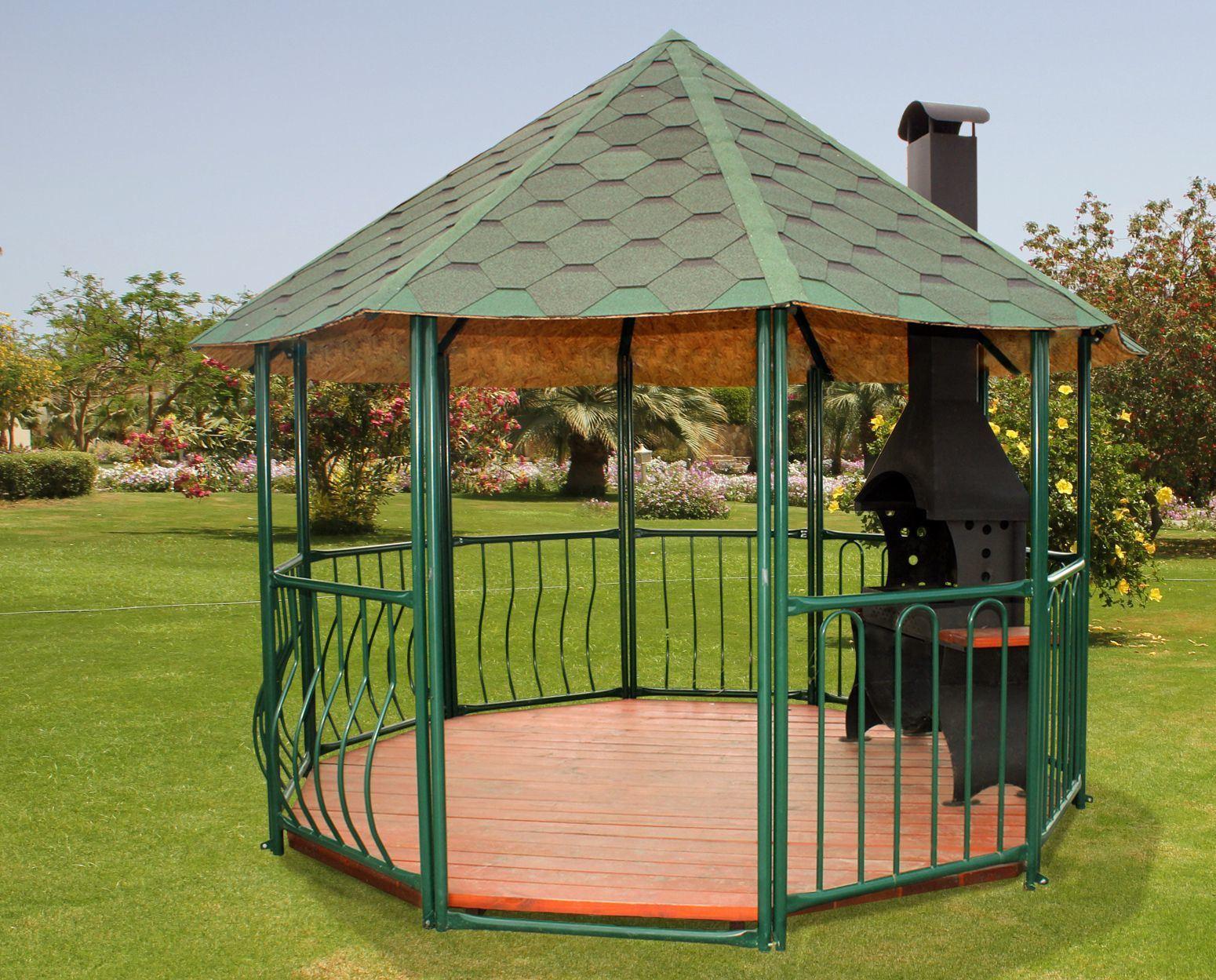 Садовая беседка с мангалом фото