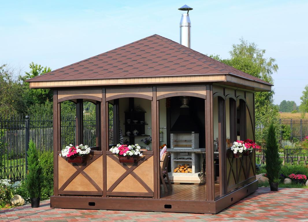Соединить на даче беседку и барбекюшницу мясо готовый набор для барбекю