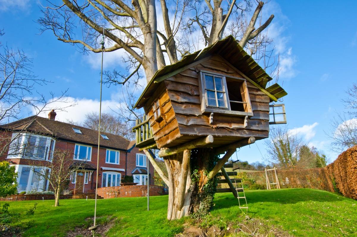 Дома на деревьях сделать своими руками