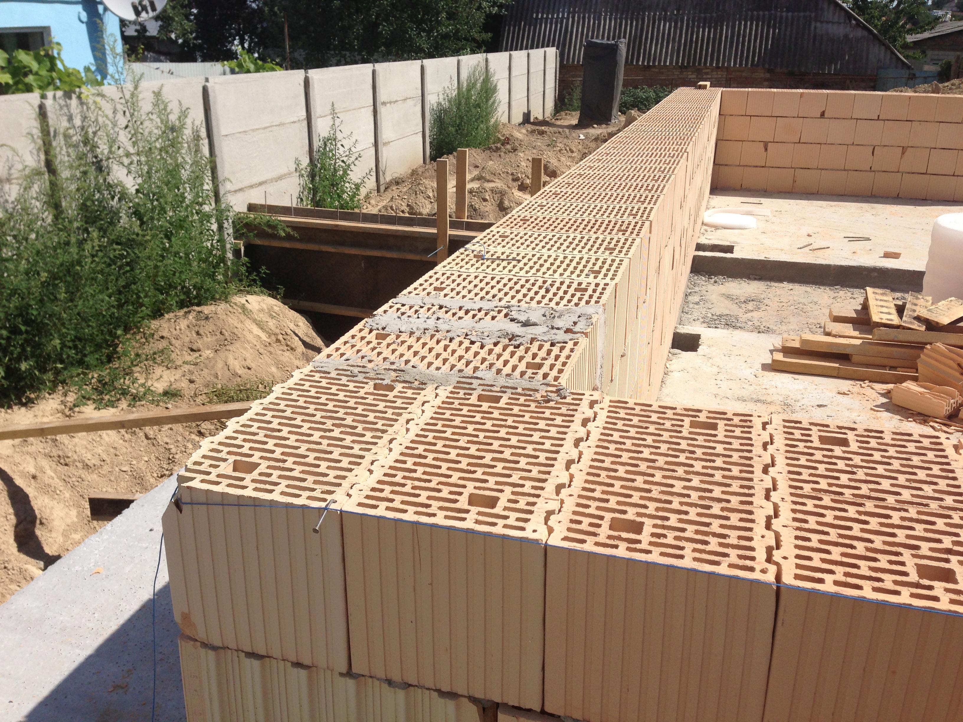 Строительство из керамических блоков своими руками