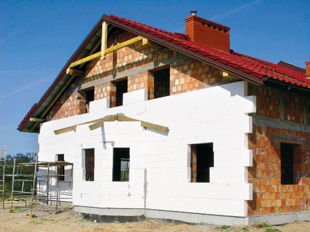 утепление фасада деревянного дома пенопластом поселке Васильево