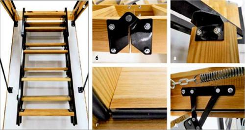 Как сделать чердачную лестницу 982