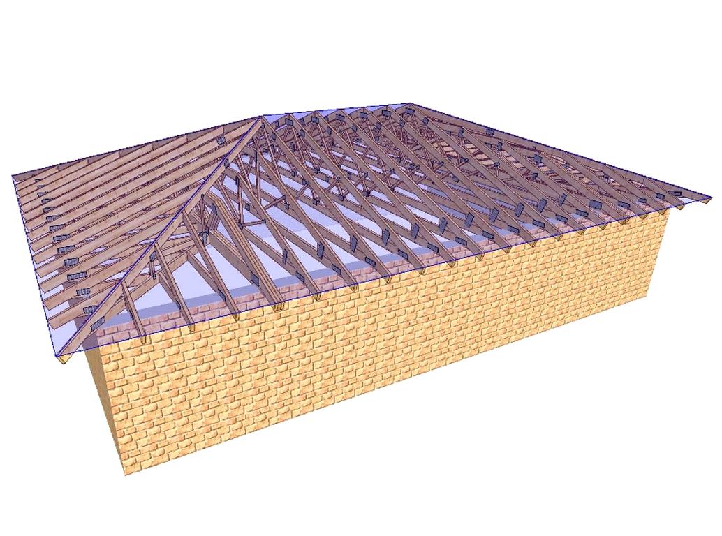Установка четырехскатной крыши своими руками 842