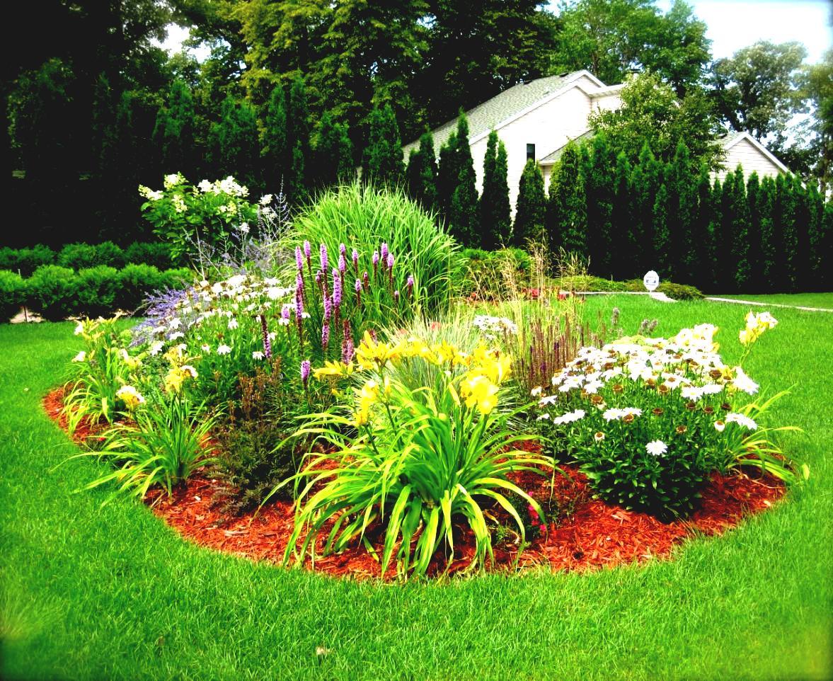 Ландшафтный дизайн дачного участка цветы