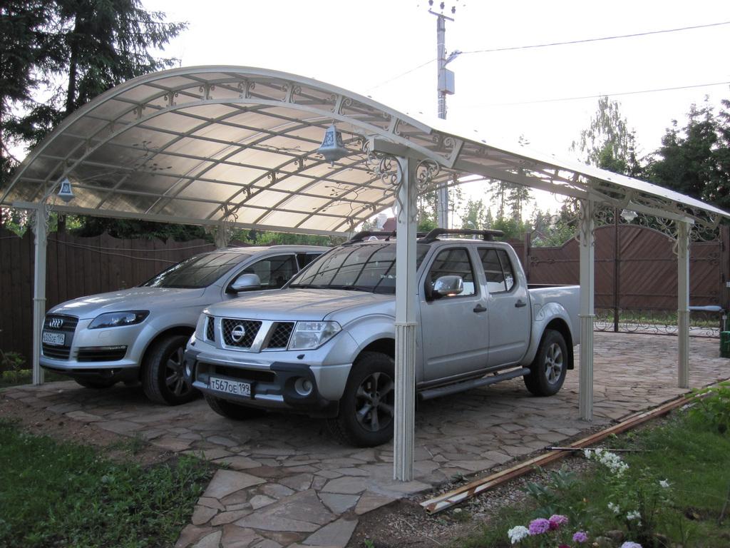 стоянка для машины на даче фото