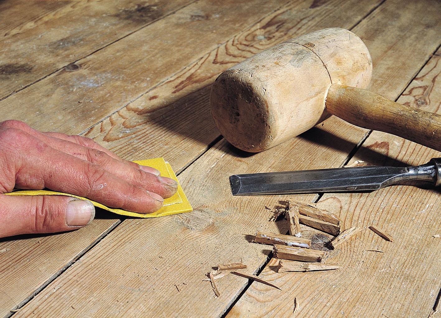 Шпаклёвка деревянного пола своими руками
