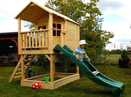 Деревянный детский домик своими руками фото