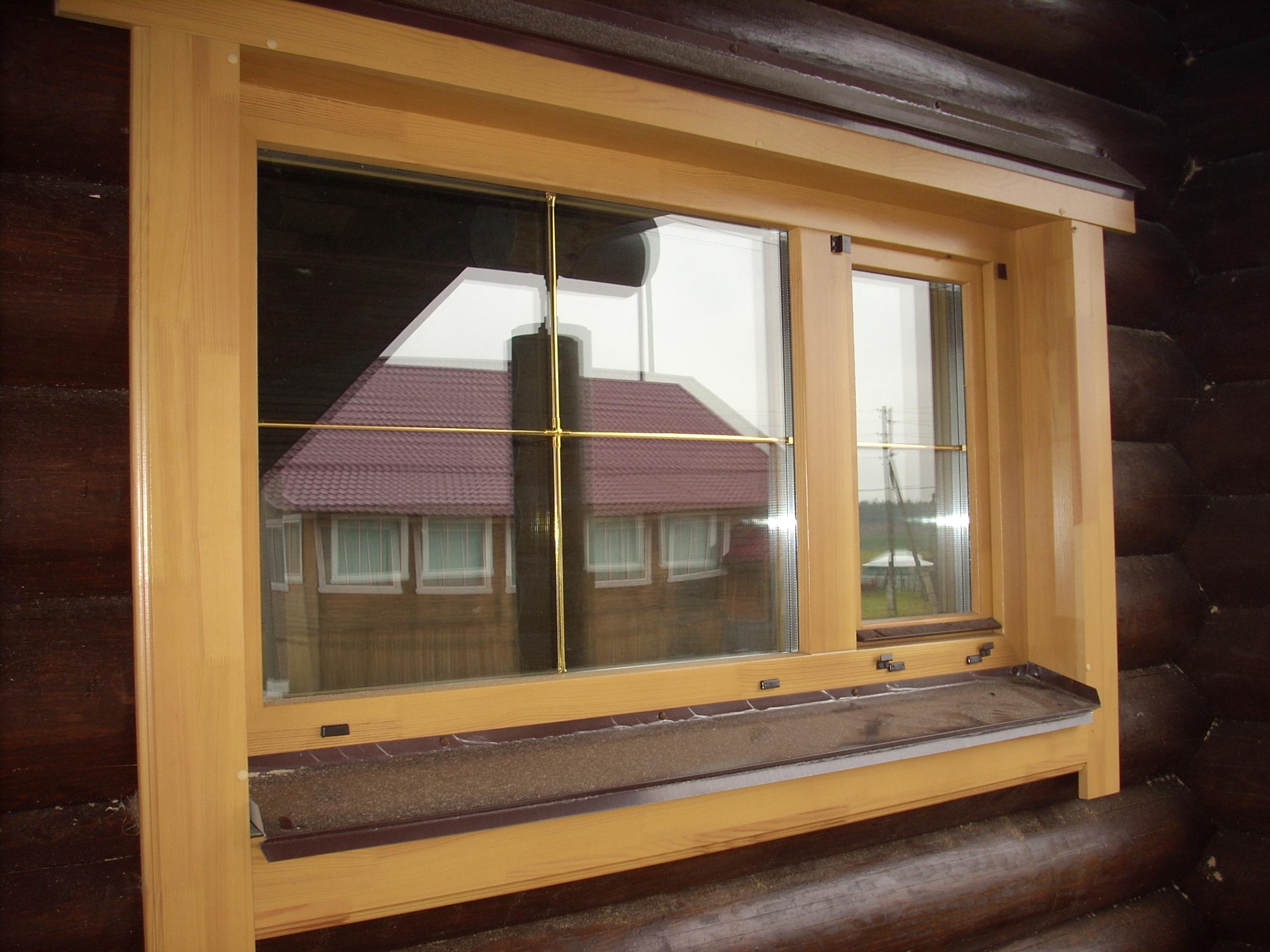 Установка деревянного окна своими руками видео фото 649