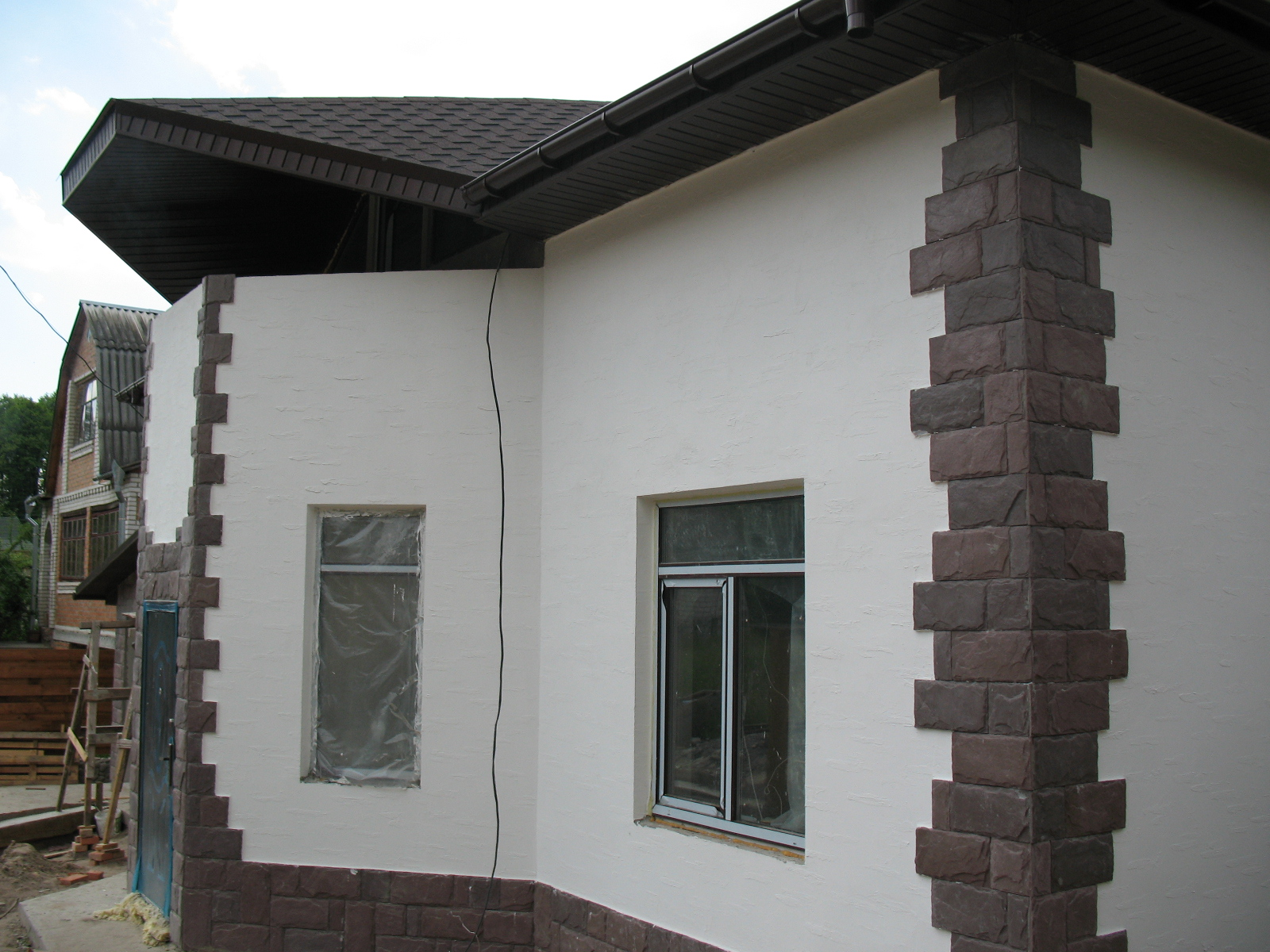 Фасадная штукатурка фото домов