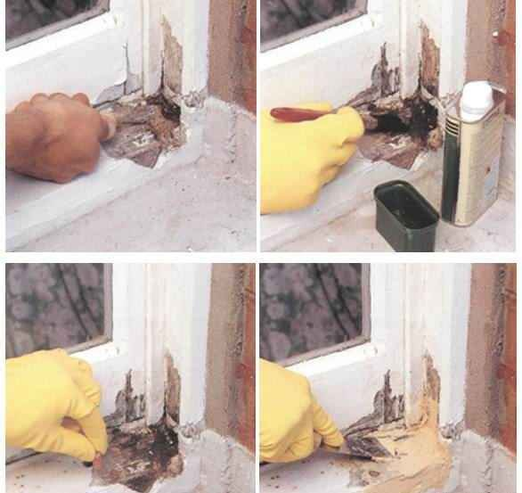 Замена стеклопакета в деревянных окнах своими руками 11