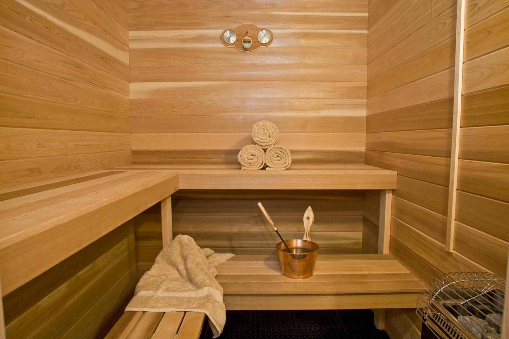 Внутренний декор бани своими руками