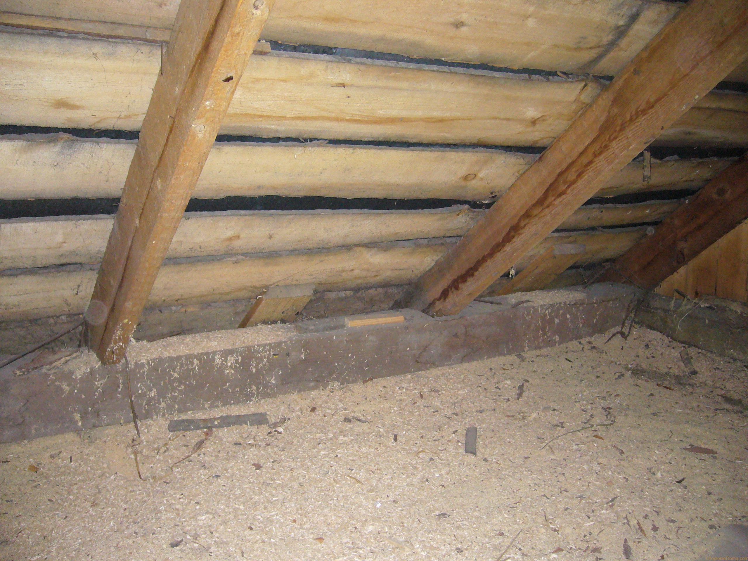 Потолок деревянного дома утеплить своими руками 20