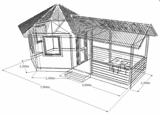 Летняя кухня своими руками чертежи и размеры 46