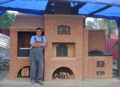 Печка мангал с казаном своими руками