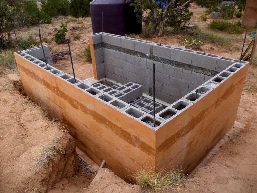 Строительство бани из пеноблока своими руками фото