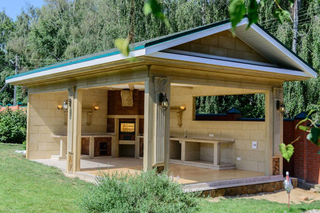 Летняя кухня с террасой своими руками. Как построить летнюю кухню с террасой. Как построить летнюю кухню с террасой