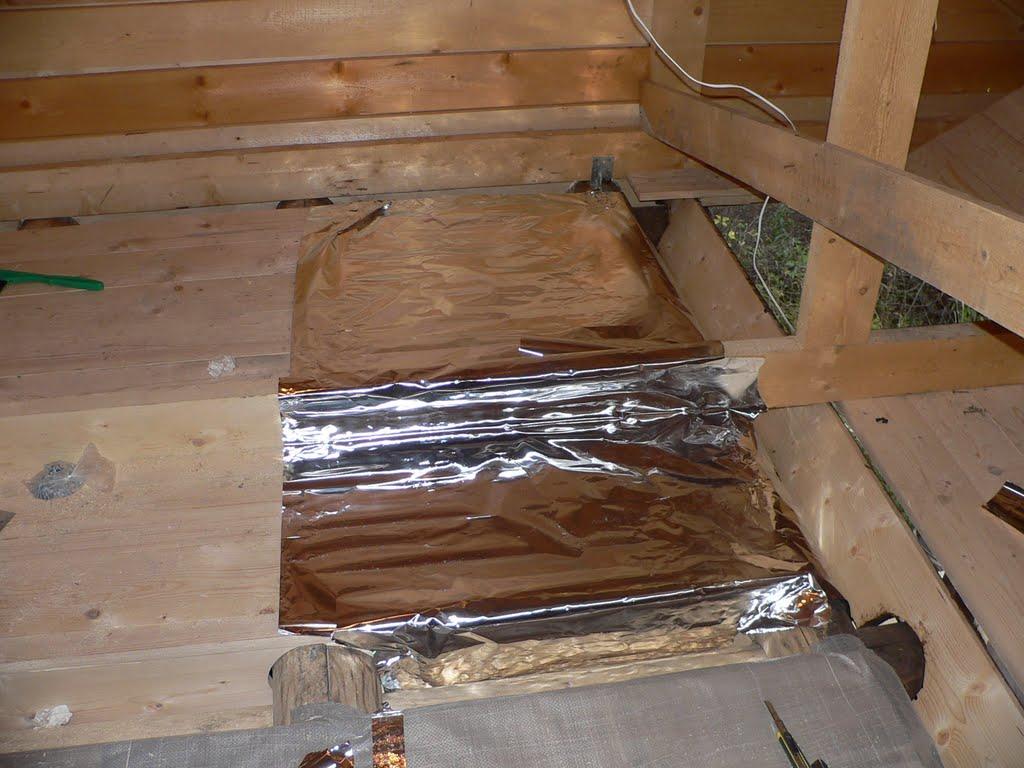 Как утеплить потолок снаружи в бане своими руками 15
