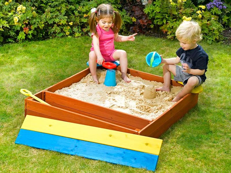 Детская песочница своими руками на даче 544