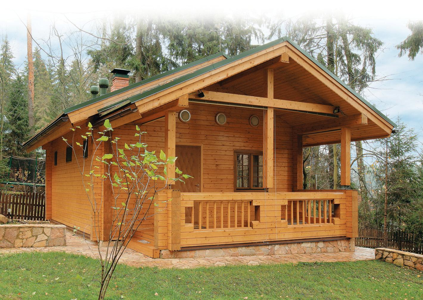 Как построить дачный дом с баней 9