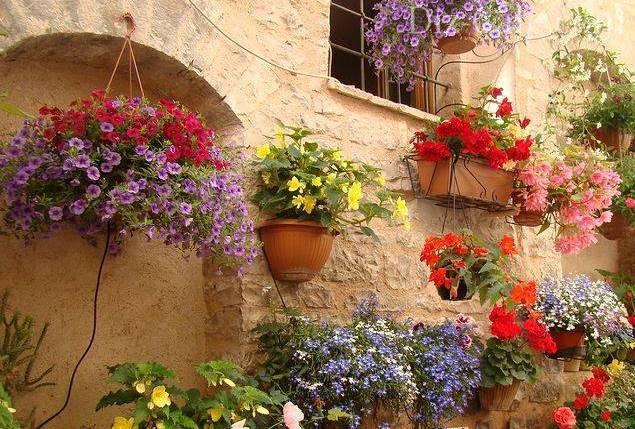 Как украсить двор частного дома цветами своими руками фото