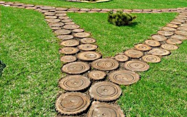 Дорожки садовые дорожки из дерева своими руками