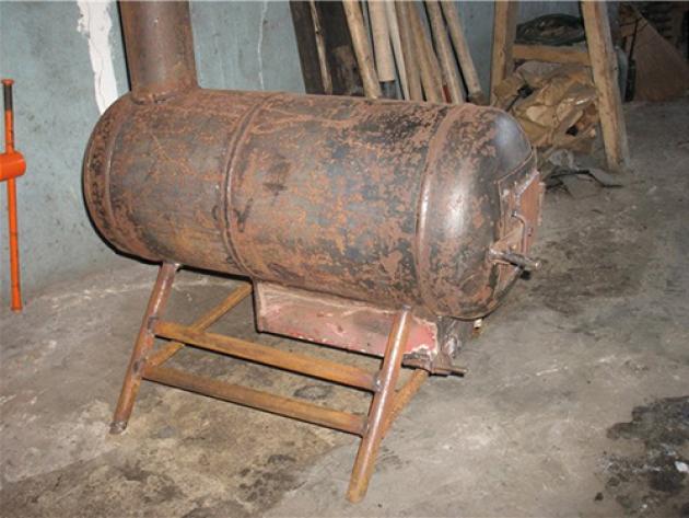 119Газовая печка для бани из газового баллона своими руками
