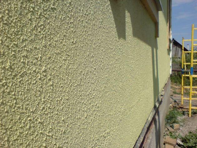 Штукатурка фасада короед на пенопласт