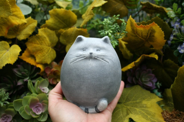 Садовая скульптура кот своими руками
