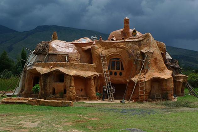 Фото дом из глины